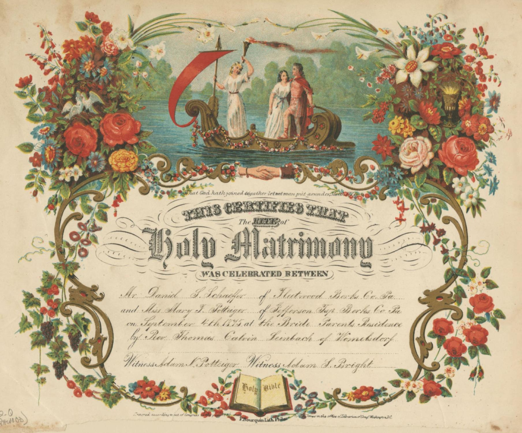 Illuminated Wedding Certificate