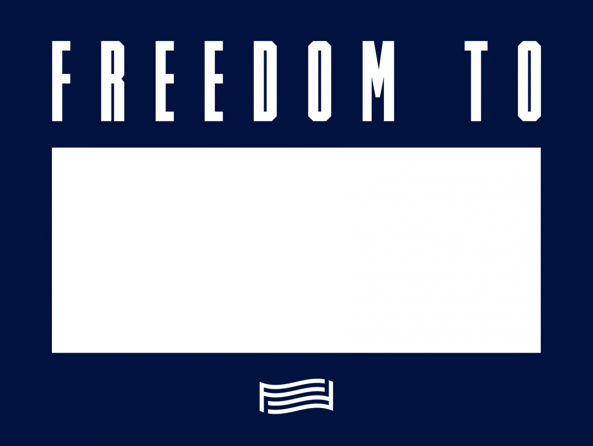 """For Freedoms """"Freedom To"""" sign"""