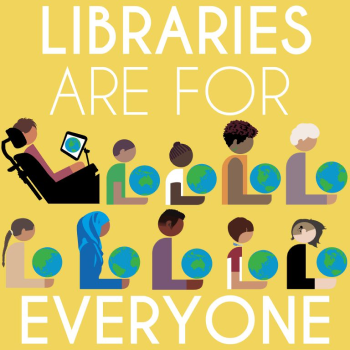 Libraries are for everyone logo