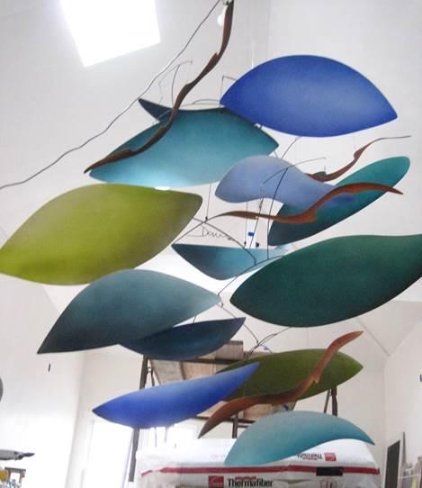 Sculpture in studio