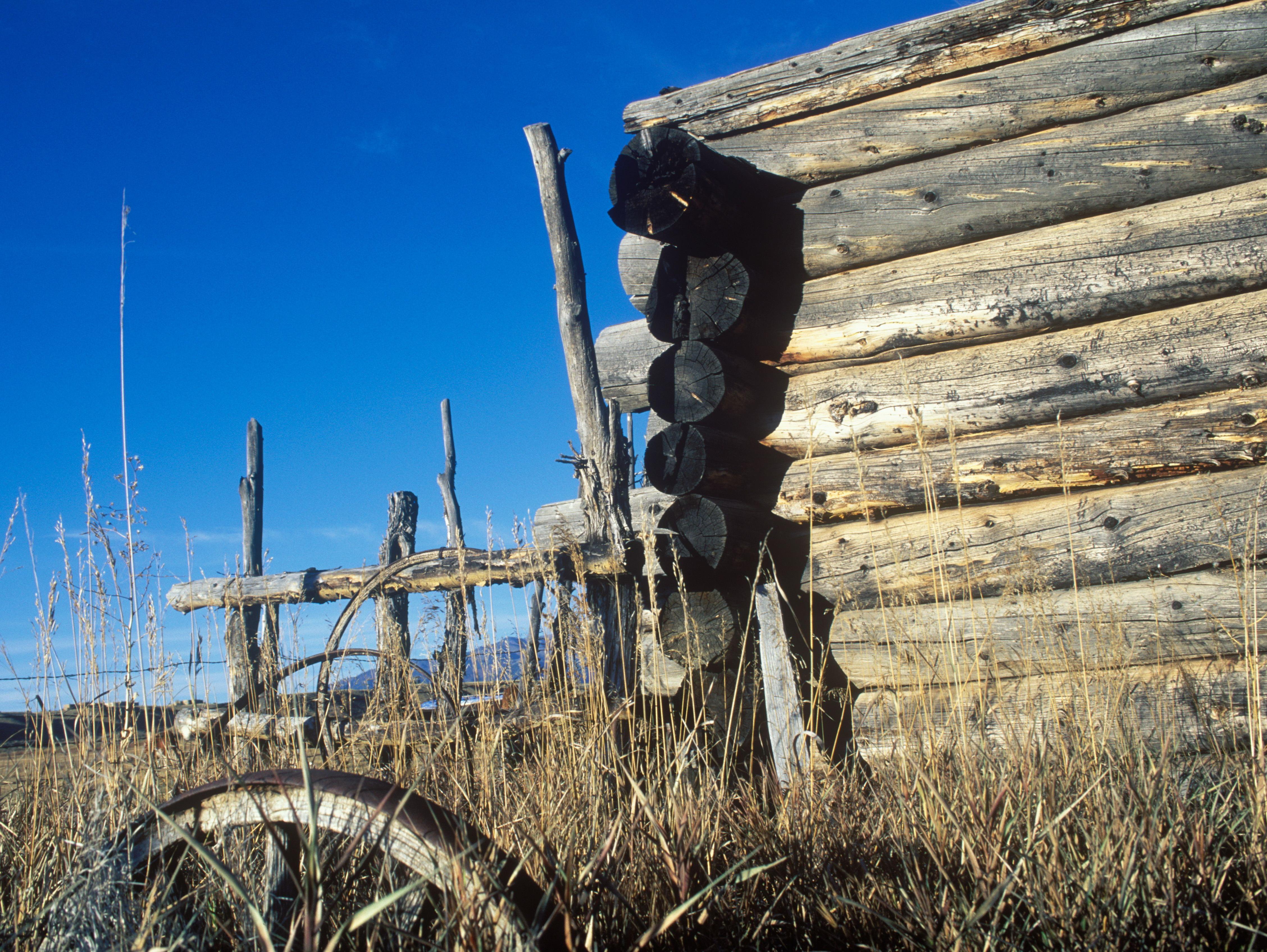 American West abandoned homestead
