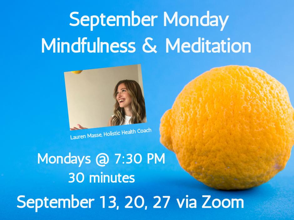 September monday mindfulness & meditation