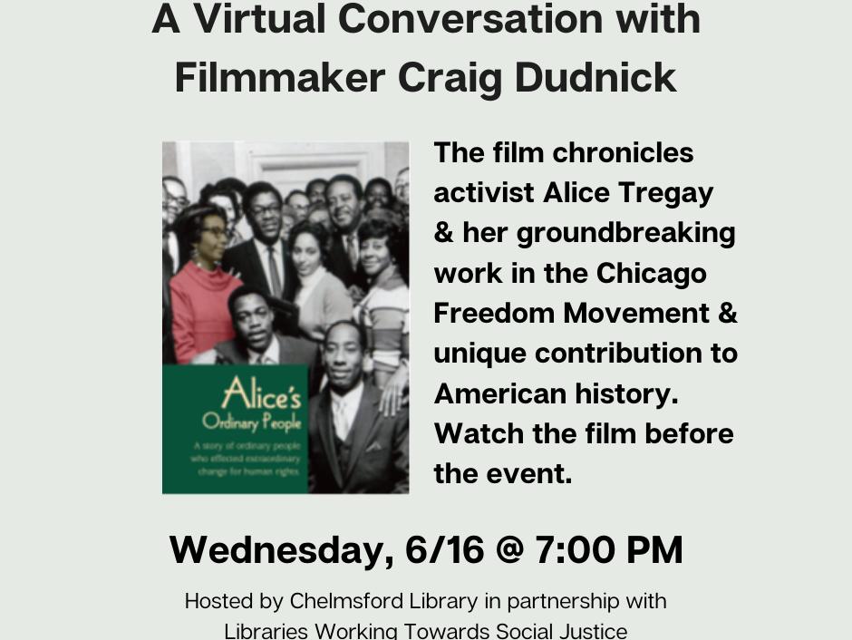 virtual conversation with filmmaker craig dudnick