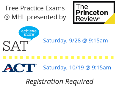 Free practice ACT and SAT exams presented by the Princeton Review