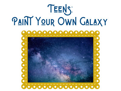 paint your own galaxy for teens