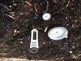 thermometers in soil