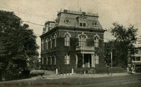 Memorial Hall Library, Circa late 1800's