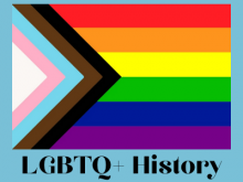 lgbtq+ history with pride flag
