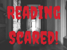 black and white hallway that says reading scared