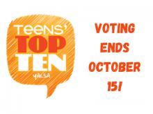 Teens' top ten voting ends 10-15