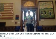 MHL's 2016 Book Cart Drill Team