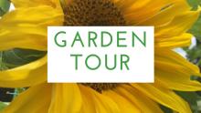 garden tour sign