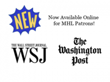 New! Access to WSJ and WaPo Online with your MHL Card!