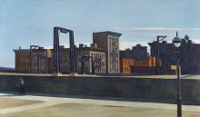 Edward Hopper, Manhattan Bridge Loop, 1928. Oil on canvas, 35 x 60 inches. 1932.17, Gift of Stephen C. Clark, Esq.