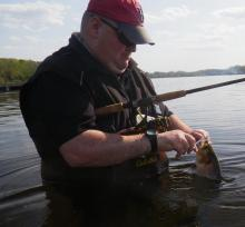 Eric Roach shad fishing
