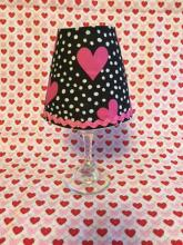 Valentine wine glass lamp