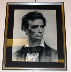 Abraham Lincoln chalk drawing