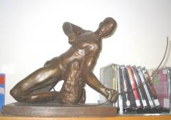 Man with a Bow Sculpture