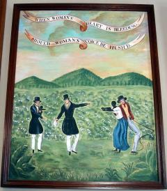 Anti-slavery banner reproduction painting: When a woman's heart is bleeding should a woman's voice be hush'd?