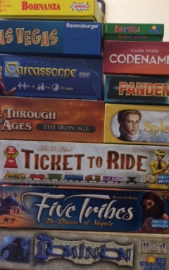 stack of games