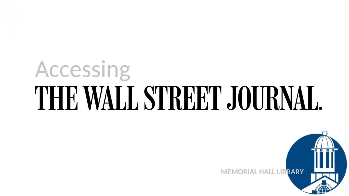 Access the Wall Street Journal with your library card