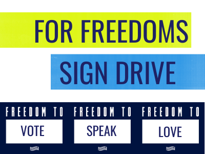 For freedoms sign drive