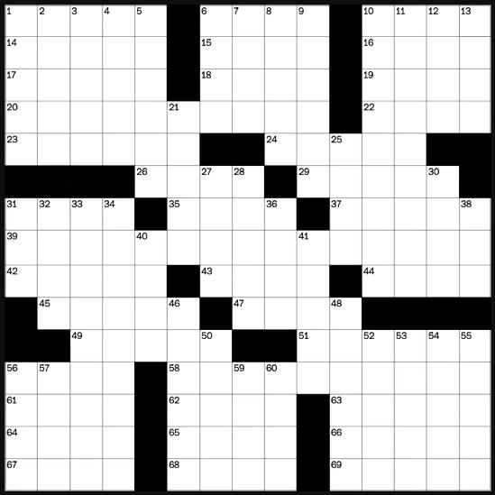 Blank crossword puzzle grid