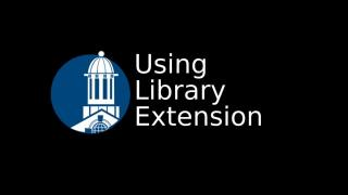 Using Library Extension