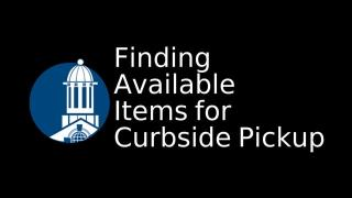 Finding Available Items for Curbside Pickup