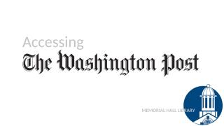 Accessing The Washington Post with your library card