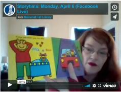 Storytime: Monday, April 6